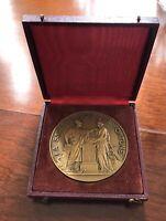 Ancienne médaille BANQUE DE FRANCE 150ans 1800-1950 Bronze Dumarest Sculpteur
