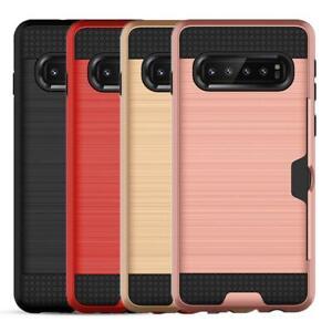 Shockproof Card pocket Hybrid wallet Bumper case cover for iPhone 11 Pro max UK
