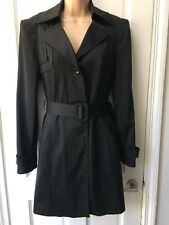 Women's Trench coat Size 12 Next Black Belted Mac
