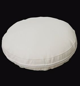 pb308r Cream Round Faux Leather Soft Thick Mattresses Cushion Cover Custom Size