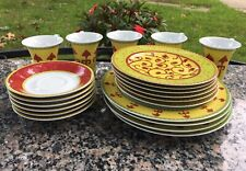 ROSENTHAL BOKHARA Germany 5 ESPRESSO CUP 6 SAUCER 6 Bread Plate 4 Salad Plates