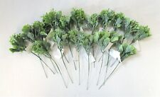 Pack of 18 Artificial Green Leaf Picks - 22cm - Bundle Leaves Foliage