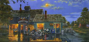 "DAVE BARNHOUSE ""Sam's Place"" SIGNED w/HARLEY-DAVIDSON Logo"