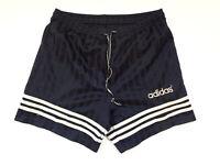ADIDAS 90s Training Vintage Football Shorts Classic Navy Blue D6 M Medium