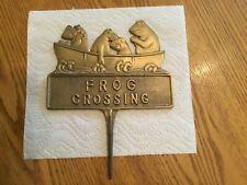 Brass Garden Medalion Frog Crossing
