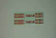 Décals 1/43e Harnais + prolongements Rouge