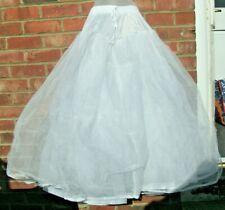 vintage retro White Net Petticoat Bridal Prom Underskirt Slip
