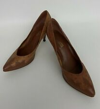 Vintage Womens Leather Heals Shoes Fashion 10 Brown 70s 8.5 Brazil