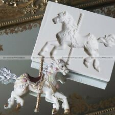 Carousel Horse Silicone Fondant Cake Mold Emboss Cutters Sugar Craft Mould S2