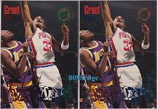 (2) 1994-95 STADIUM CLUB BEAM TEAM: GRANT HILL #8 ROOKIE COLOR VARIATION LOT