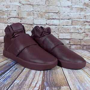 Adidas Tubular Invader Strap Maroon Sneaker Mens Size 8 Shoes BW0873 Leather