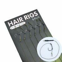 Carp Fishing Hair Rig 6pcs/set Ready Made Boilie Hook Carp Fishing Hair Rig New