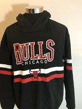 NBA Chicago Bulls Hoodie Men's Black Sweatshirt Basketball Pullover XLarge XL N3