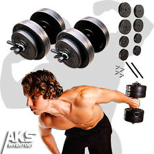 40lb Dumbells Free Weights Home Gym Fitness Equipment Adjustable Weight Set New