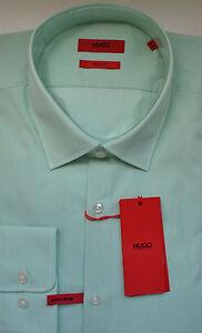 NWT HUGO Red Label By Hugo Boss Sharp Fit Long Sleeve Striped Dress Shirt 15.5