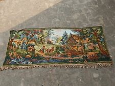 Vintage French Beautiful Scene Tapestry 62x155cm A982