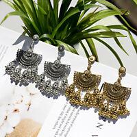 Vintage Jhumkas Ethnic Hook Drop Dangle Women Earrings Bollywood Indian Jewelry