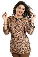 Women Indian Kurti Printed Designer Ethnic Kurta Shirt Top Dress SC2502 ORANGE