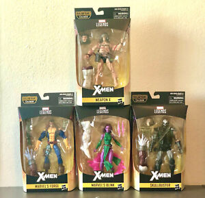 X-Men Marvel Legends 6-Inch Action Figures (Caliban BAF) - Set of 4
