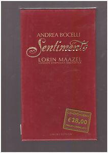 ANDREA BOCELLI - SENTIMENTO LIMITED EDITION CD DVD LIBRO NUOVO SIGILLATO