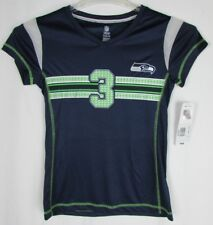Seattle Seahawks Girl's M L XL Wilson #3 Short Sleeve T Shirt NFL Navy A15