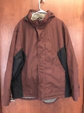 WOOLRICH Men's Hooded Mulberry Maroon Insulated Ski Parka Jacket Coat Size 2XL