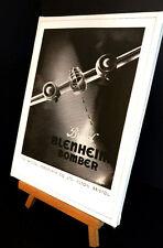 WAR TIME AVIATION Bristol bomber  STRETCHED AND FRAMED CANVAS