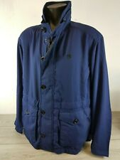 Gstar Raw Mens Shattor Jacket Imperial Blue Zipped Buttons RRP £200 Size XL B651