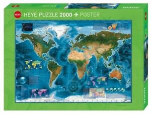Heye Puzzles - 2000 Piece Jigsaw Puzzle - Satellite Map HY29797