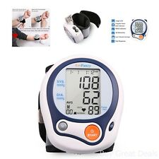 Automatic Wrist High Low Blood Pressure Cuff Monitor FDA Approved Portable Case