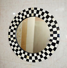 Mirror Wall Hanging Bedroom Bone/Horn Inlay Checker Design Frame Decorative