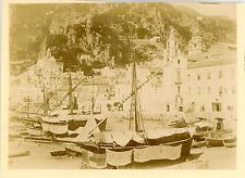 Italie, Sorrento, Navi  Vintage albumen print. Italy  Tirage albuminé  8x11