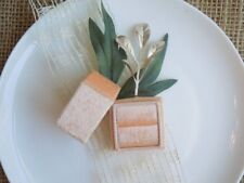 Heirloom Collection Velvet Ring Box - Pearly Pastel Edition - Tangerine