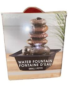 Ashland  Indoor/outdoor Water Fountain  Waterfall Feature LED Light.