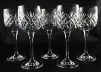 Four Stunning Bohemia Lead Crystal vintage Wine Water Glasses - Concerto