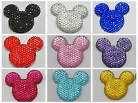 20 Flatback Resin Dotted Rhinestone Mouse Gems 30mm Pick Your Color