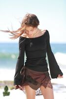 Forest Faerie Pocket Skirt, Festival Elven Pixie Lace Wrap Psytrance Boho Rave