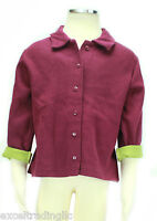 JACADI Girl's Soufi Purple Long Sleeve Polo  w/ Green Lining Sz 4 Years NWT $48