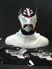 LOT of 3 SIN CARA BLACK WRESTLING MASKS ADULT SIZE adulto FREE GRATIS fusion WWE