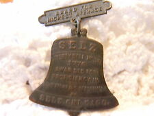 Selz Liberty Bell‏ Bronze Medal Pin-Back -  Proficiency in Scolarship - Chicago