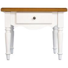 madera maciza LATERAL/ / mesita noche mesa con cajón - Blanco / PINO ip2378606