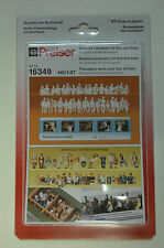 Preiser 16349 Passagers Assis Bus/Train 36 figurines non peintes HO NEUF
