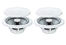 1 X PAIR ROUND CEILING SPEAKERS WITH 2 WAY MOISTURE RESISTANT WATER CONE 4 OHM