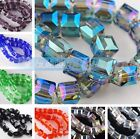 10pcs 8mm Cube Square Faceted Crystal Glass Charms Loose Spacer Beads Findings