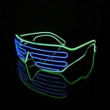 Blue & Green glasses Neon wire EL LED Shutter party rave disco club Activities