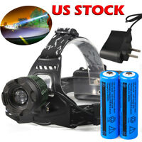 Super-Bright 90000LM T6 LED 18650 Headlamp Light Torch Rechargeable Flashlight