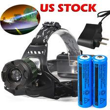 Ultrafire 90000LM T6 LED 18650 Zoomable Flashlight Headlamp Head Torch HeadLight