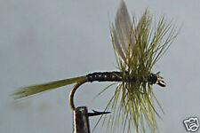 1 x Mouche Peche Sèche Quill olive H14/16/18 fliegen dry fly fishing mosca