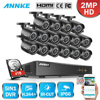 ANNKE 1080P H.264+ CCTV Surveillance System 16CH Channel DVR Security Camera HDD