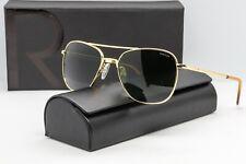Randolph Engineering Aviator Sunglasses Gold frame/AGX Glass lens 55mm RE AF051